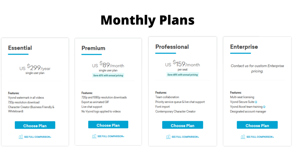 vyond-monthly-plans